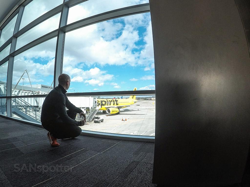 SANspotter selfie San Diego international airport