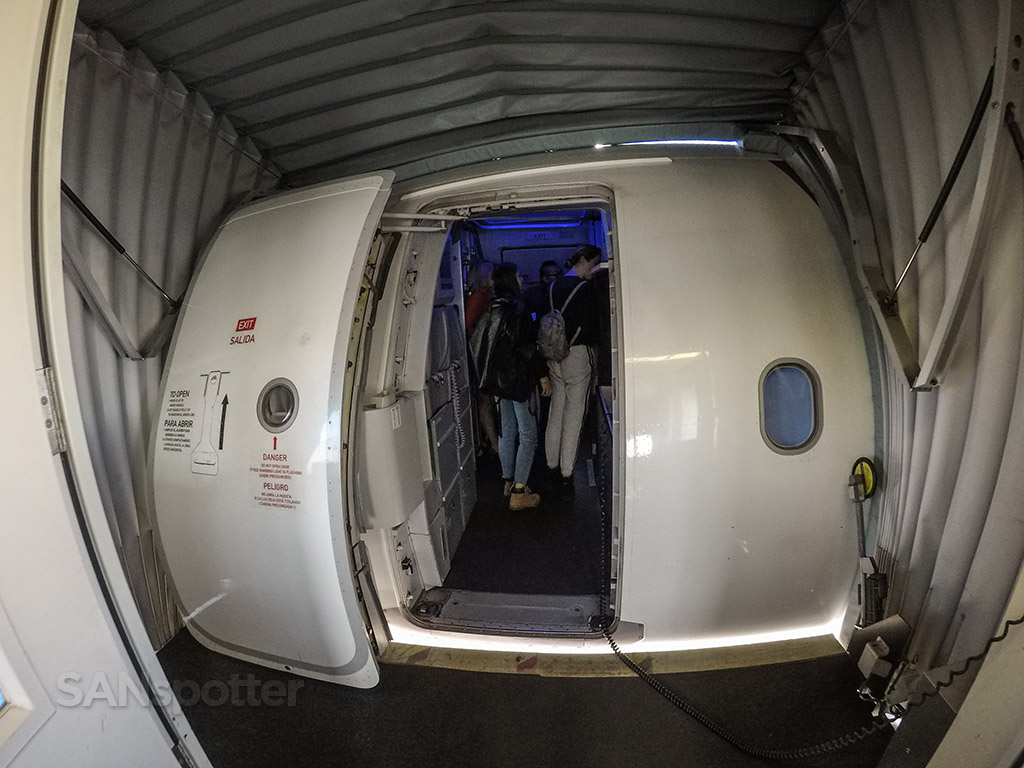 Virgin America airbus boarding door