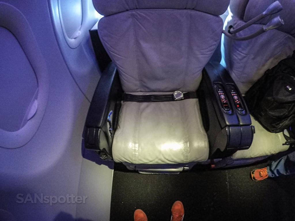 Virgin America first class seat
