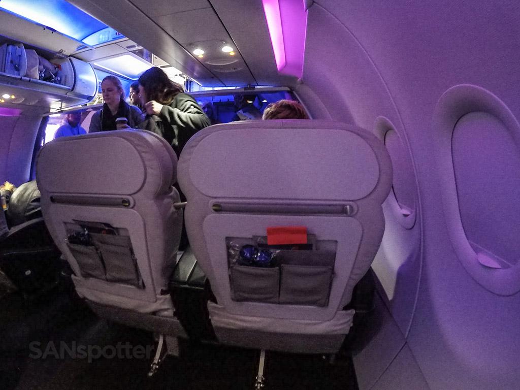 Virgin America first class boarding process