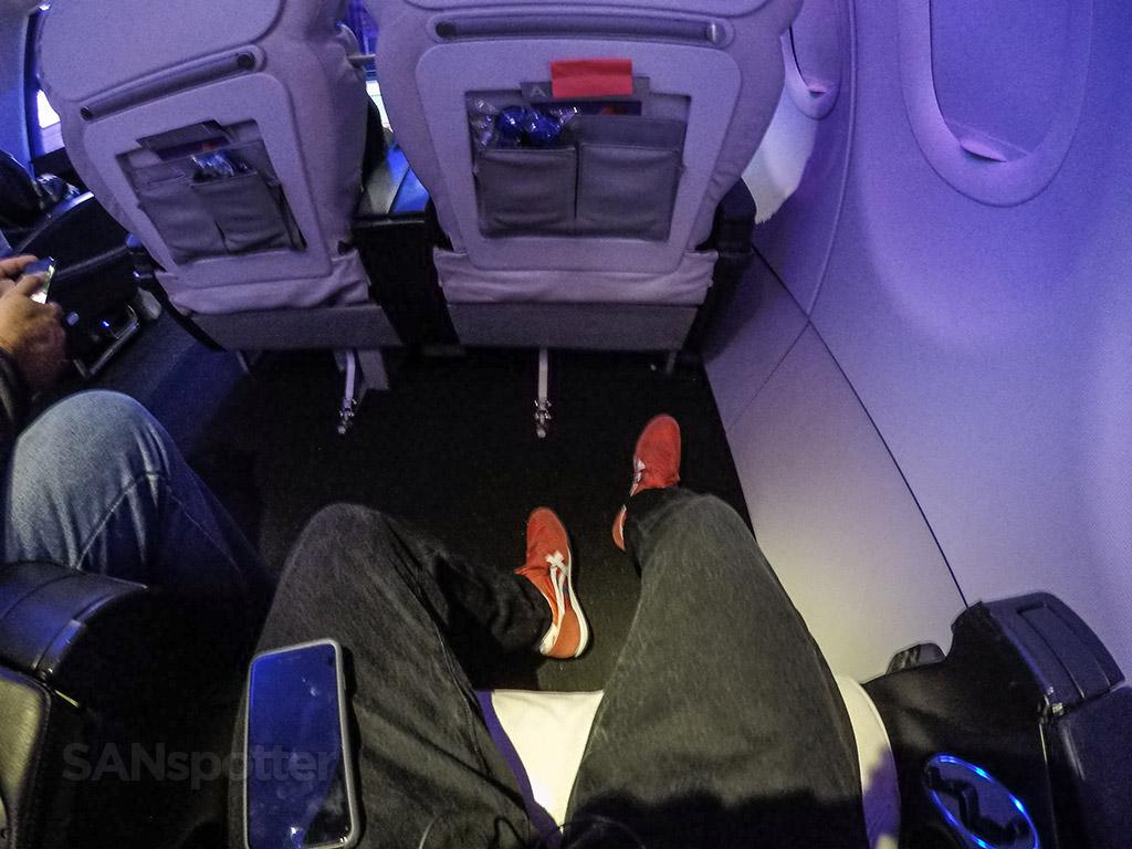 Virgin America first class leg room
