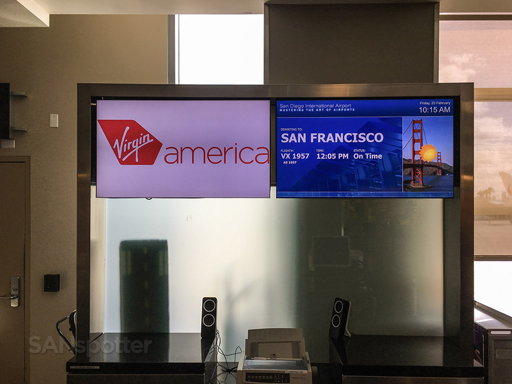 Virgin America gate San Diego international airport