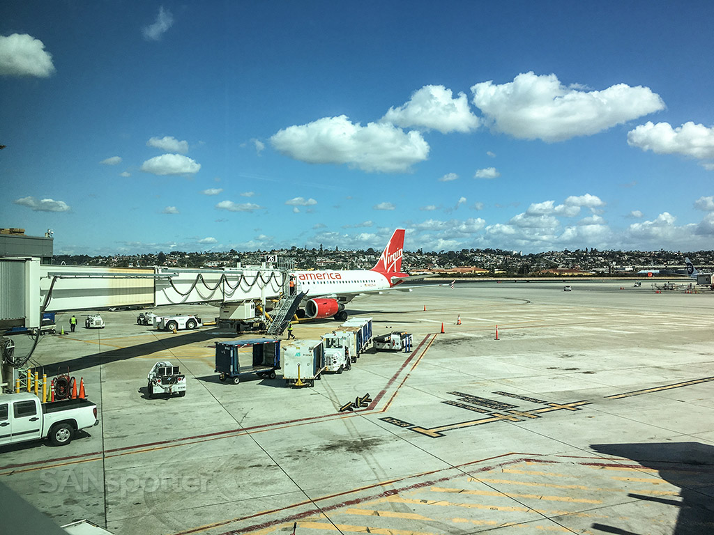 Virgin America a319 San Diego airport