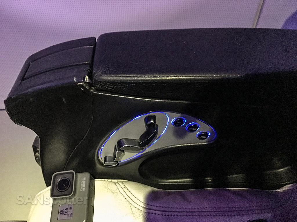 Virgin America first class seat massage