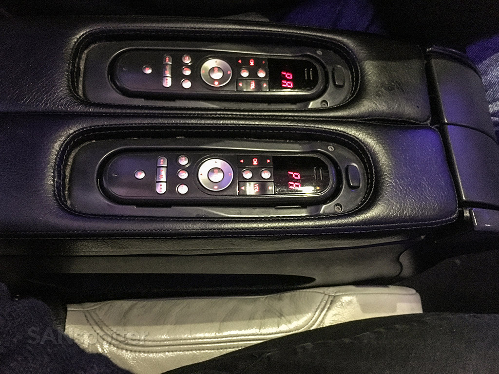 Virgin America first class entertainment remote control