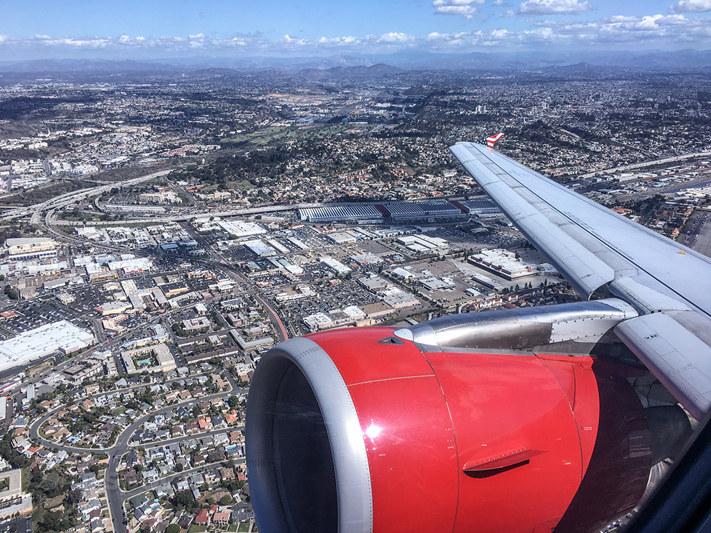 Departing San Diego airport