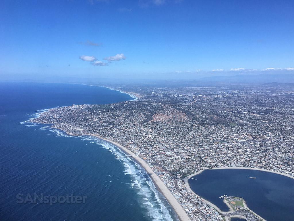 Flying over La Jolla California