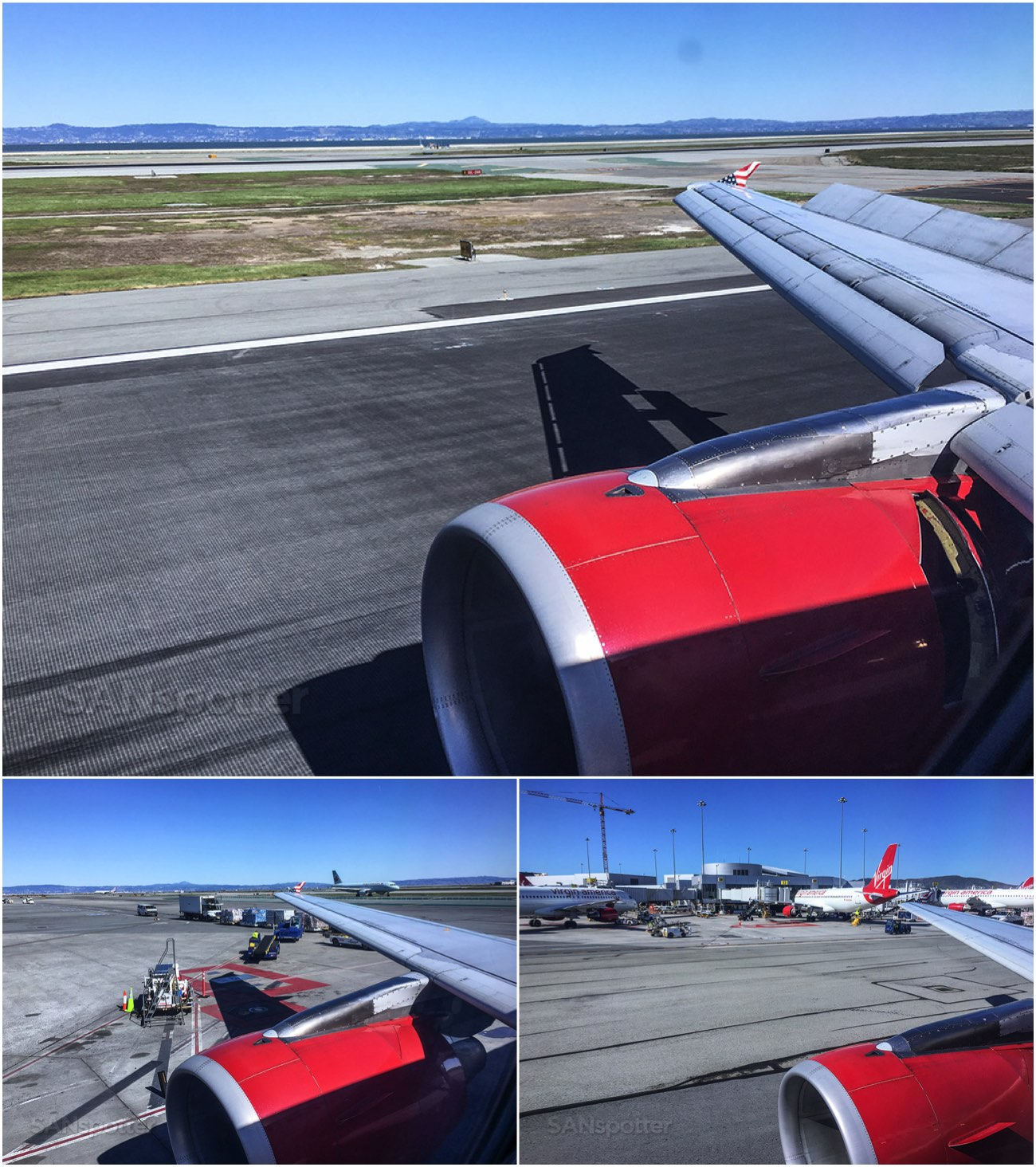 Flying into San Francisco on Virgin America