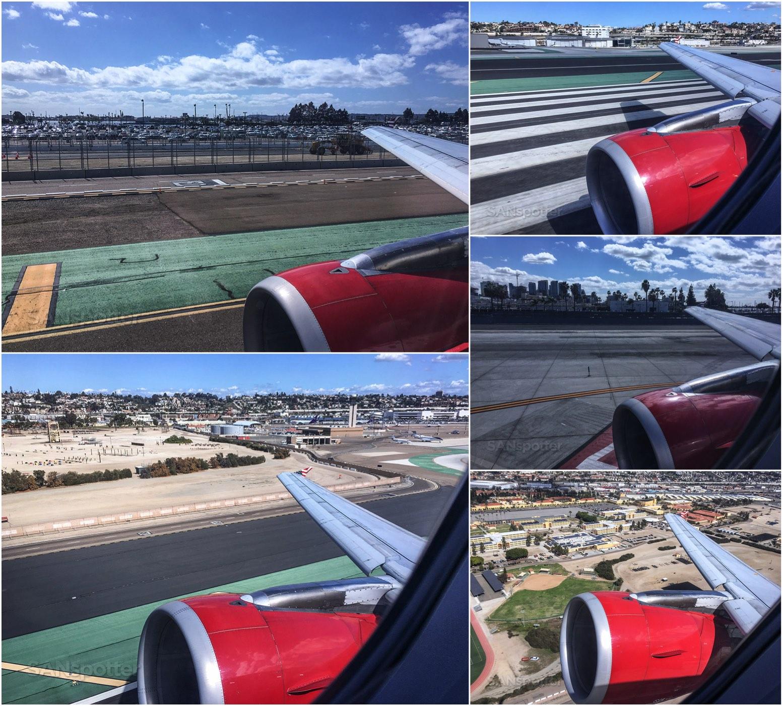 Virgin America departing San Diego