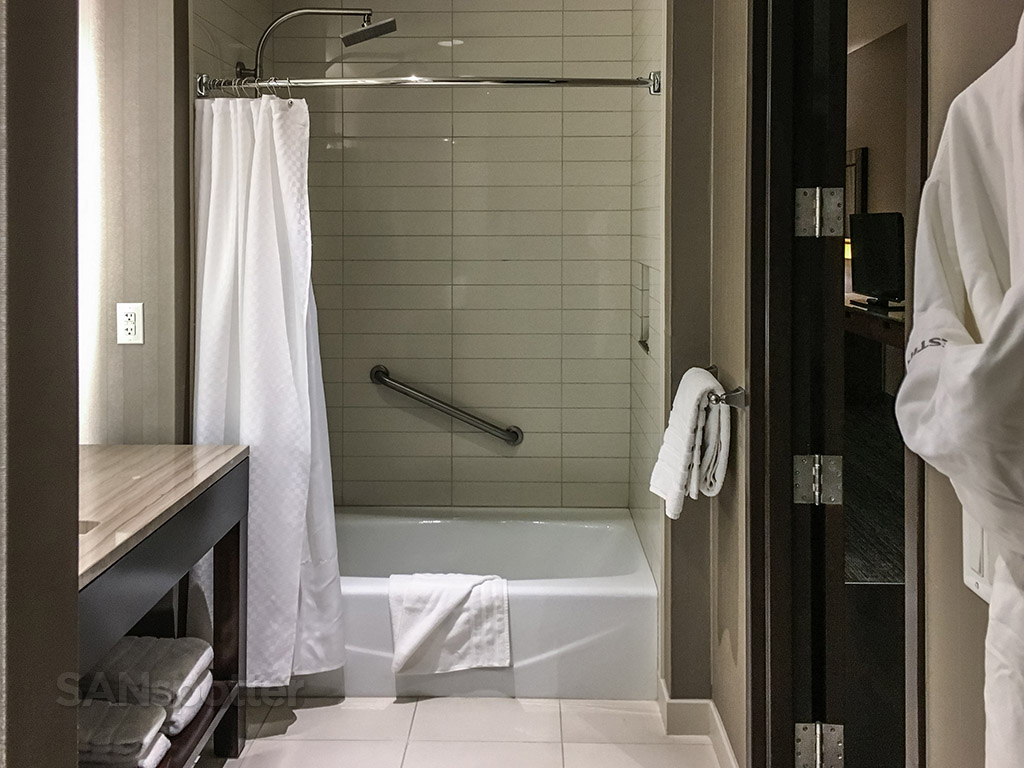 Westin hotel tub and shower
