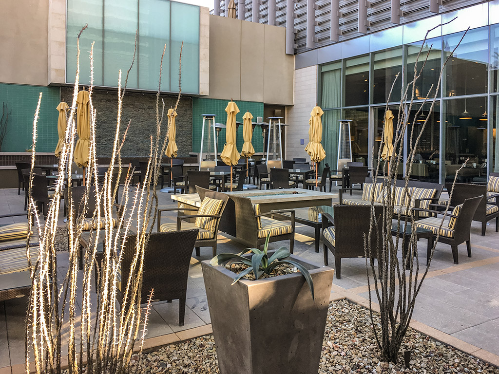 Westin hotel patio downtown Phoenix