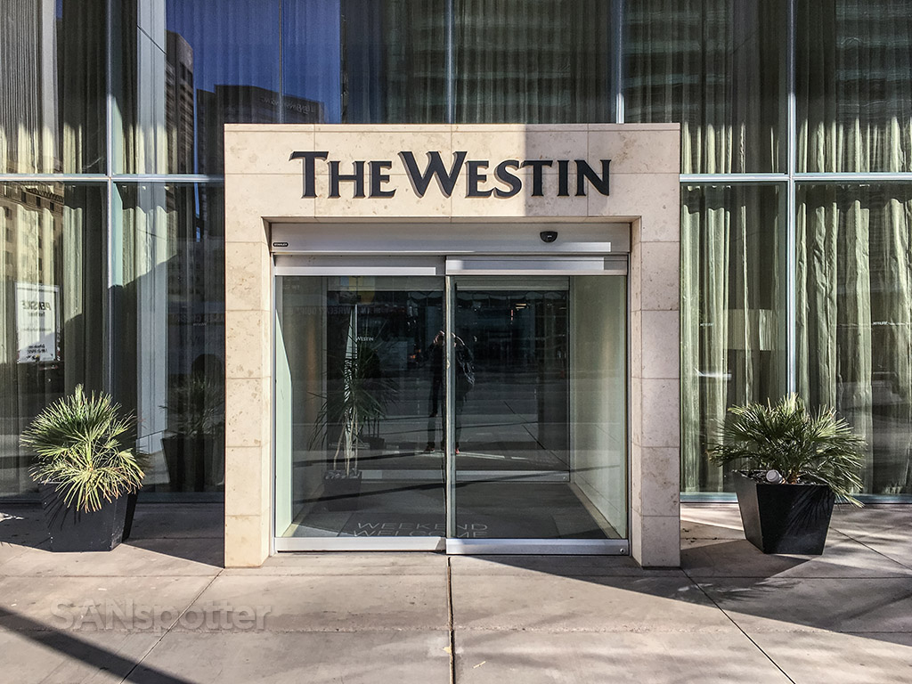 Westin hotel entrance downtown Phoenix