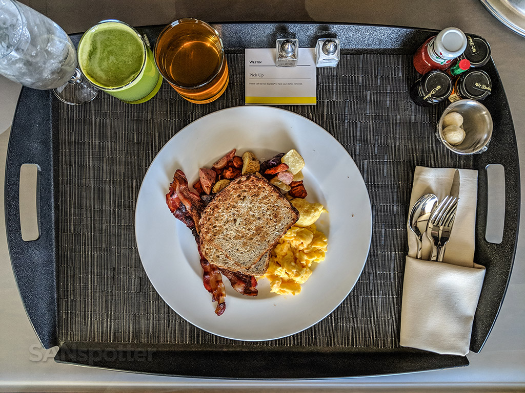 Westin hotel downtown Phoenix room service breakfast