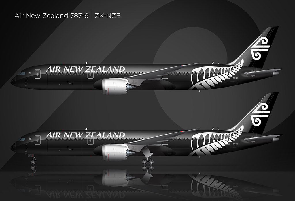 Air New Zealand 787-9 side view