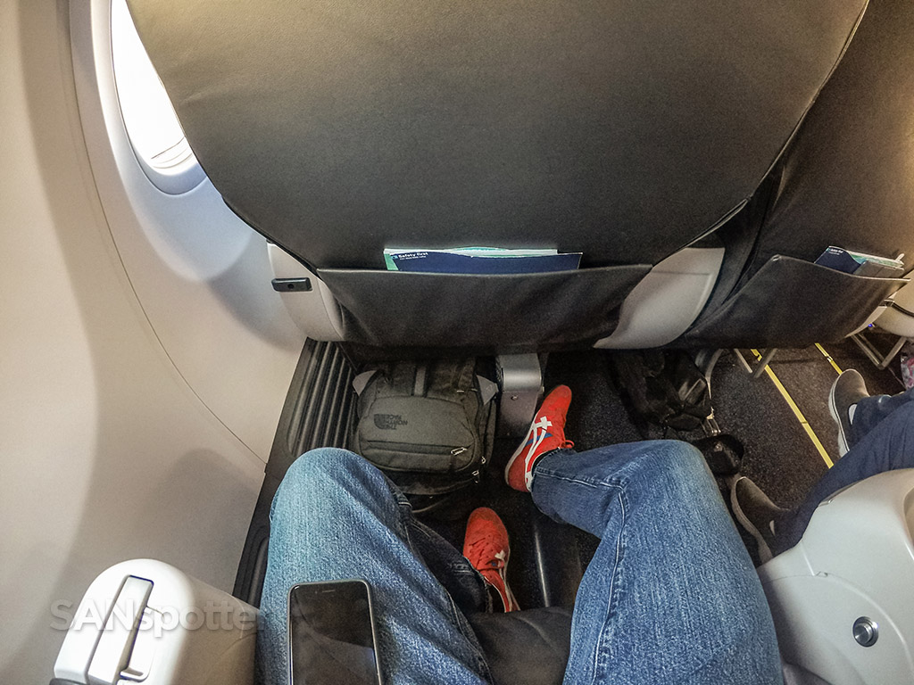 Alaska airlines first class space under the seat