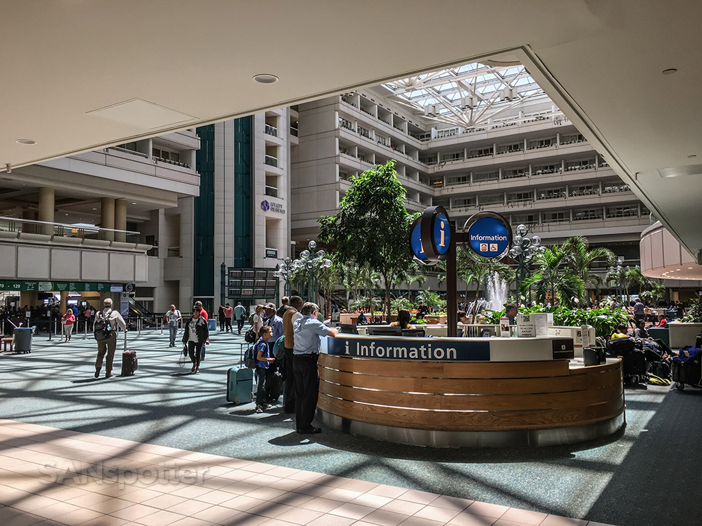 Orlando airport information desk