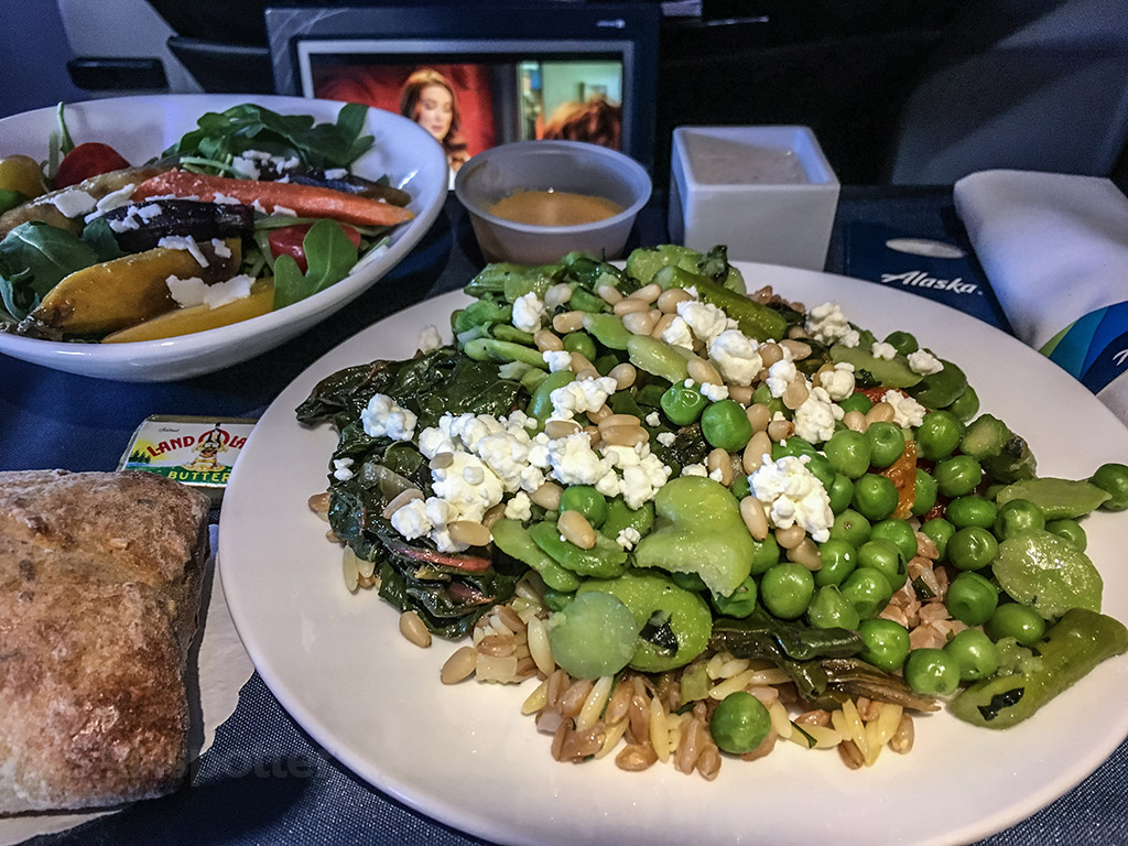 Alaska airlines first class vegetarian meal