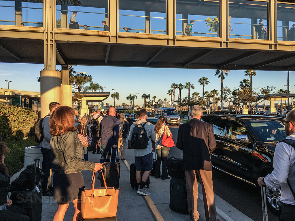 Ride share pick up San Diego airport terminal one