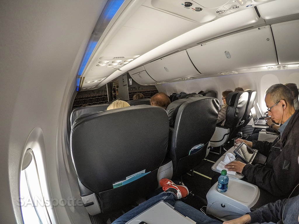Alaska airlines 737–900 first class cabin