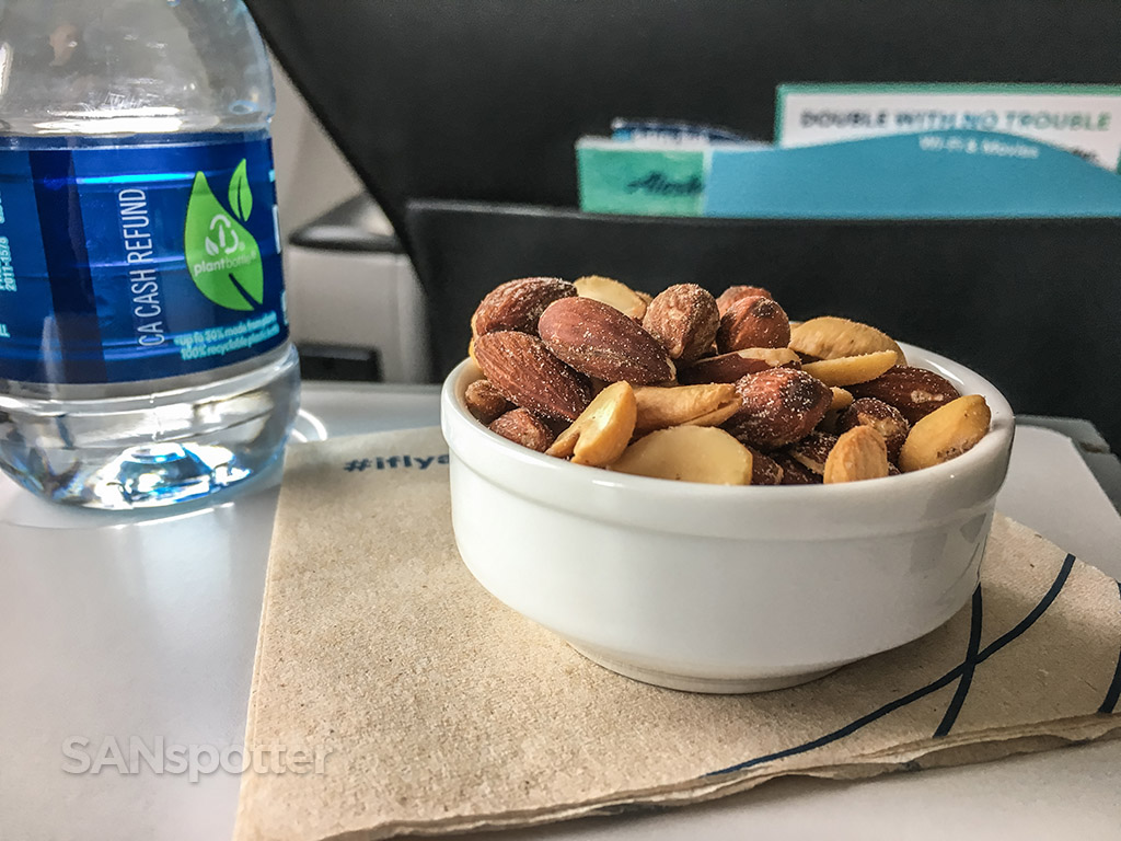 Alaska airlines first class warm nuts