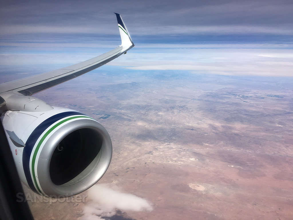 Flying over the American Southwest