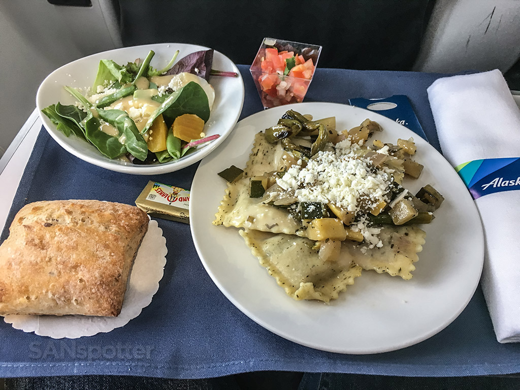 Alaska airlines first class lunch