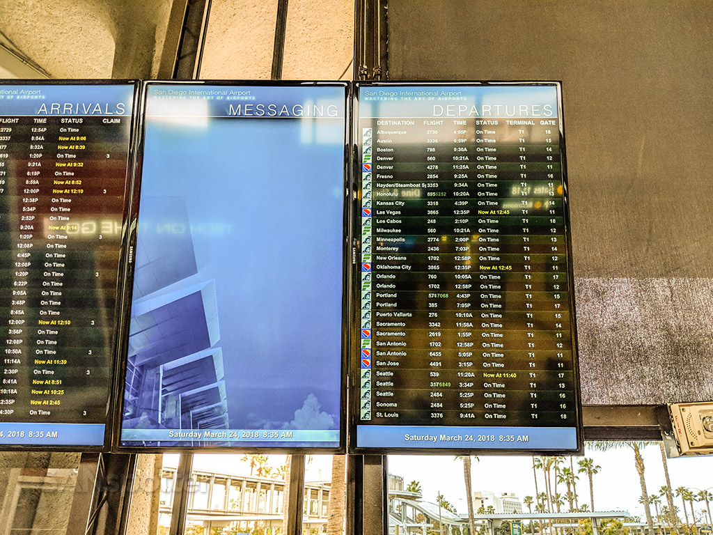 San Diego airport terminal one departures