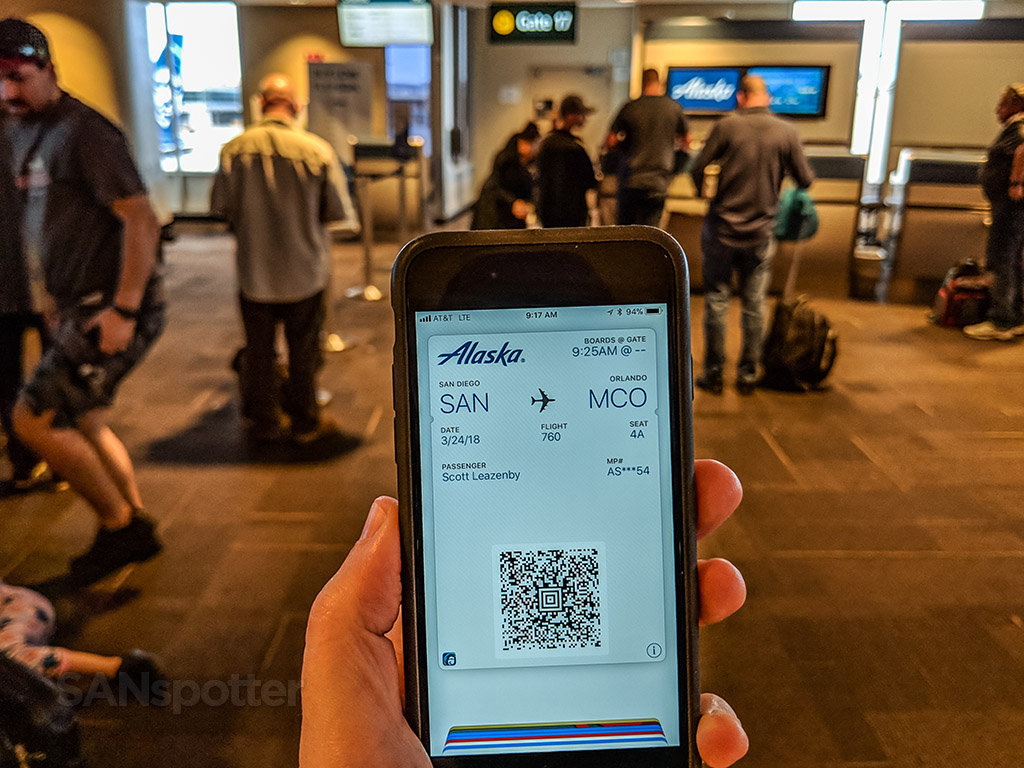 Alaska airlines mobile boarding pass