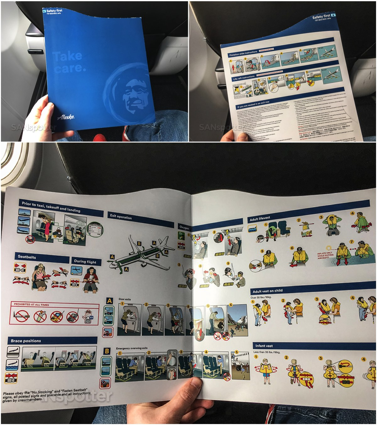 Alaska airlines 737–900 safety card