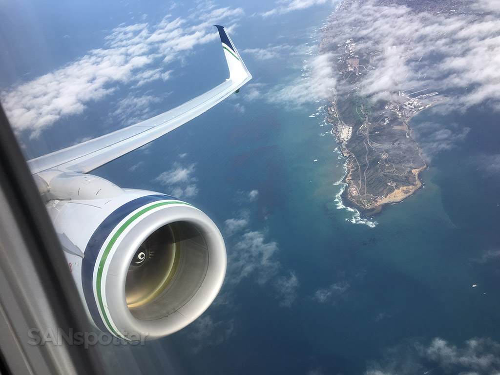 Flying over point Loma San Diego