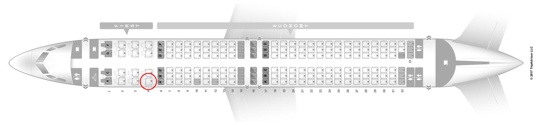 Alaska Airlines 737-900/ER seat map