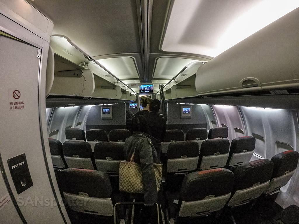 American Airlines 757 interior