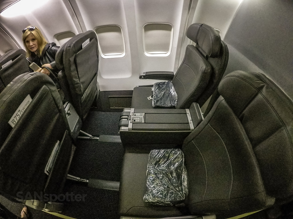 American Airlines 757 first class seat