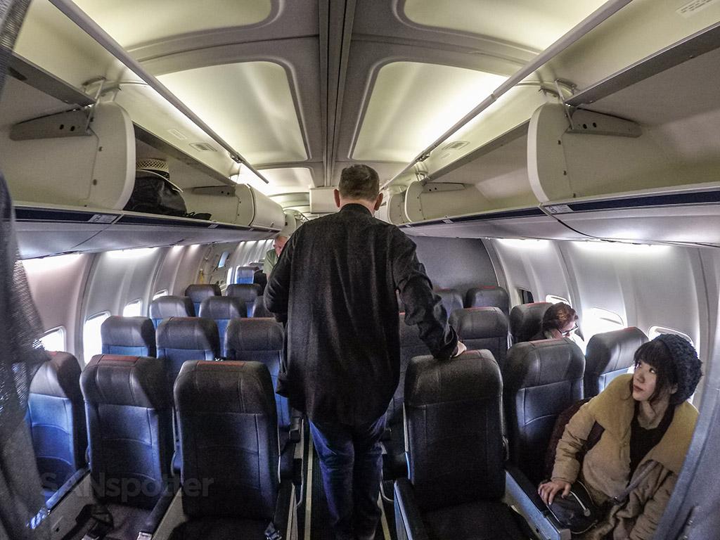 The 757 interior