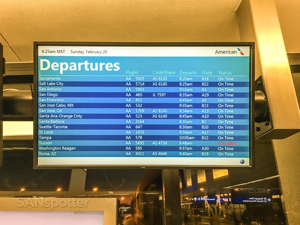 Phoenix Airport American Airlines departures