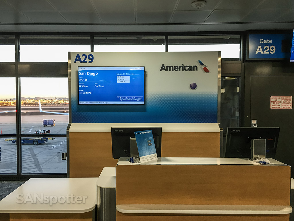 American Airlines departure board PHX airport