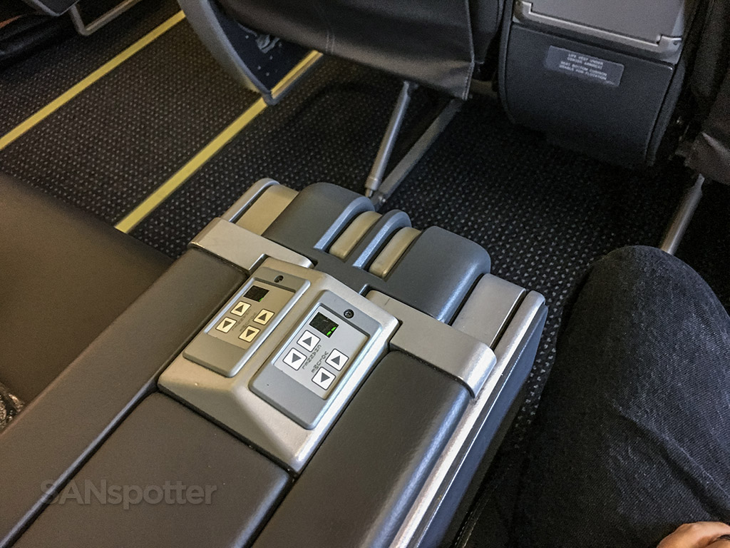 American Airlines first class arm rest