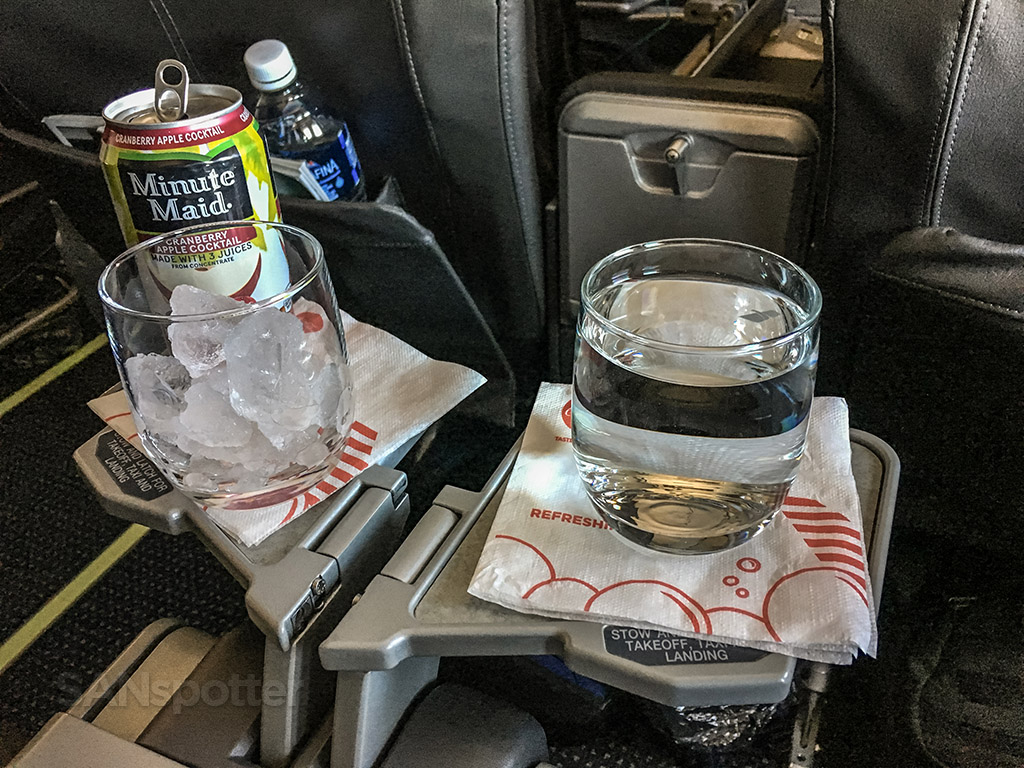 American Airlines 757 first class snack