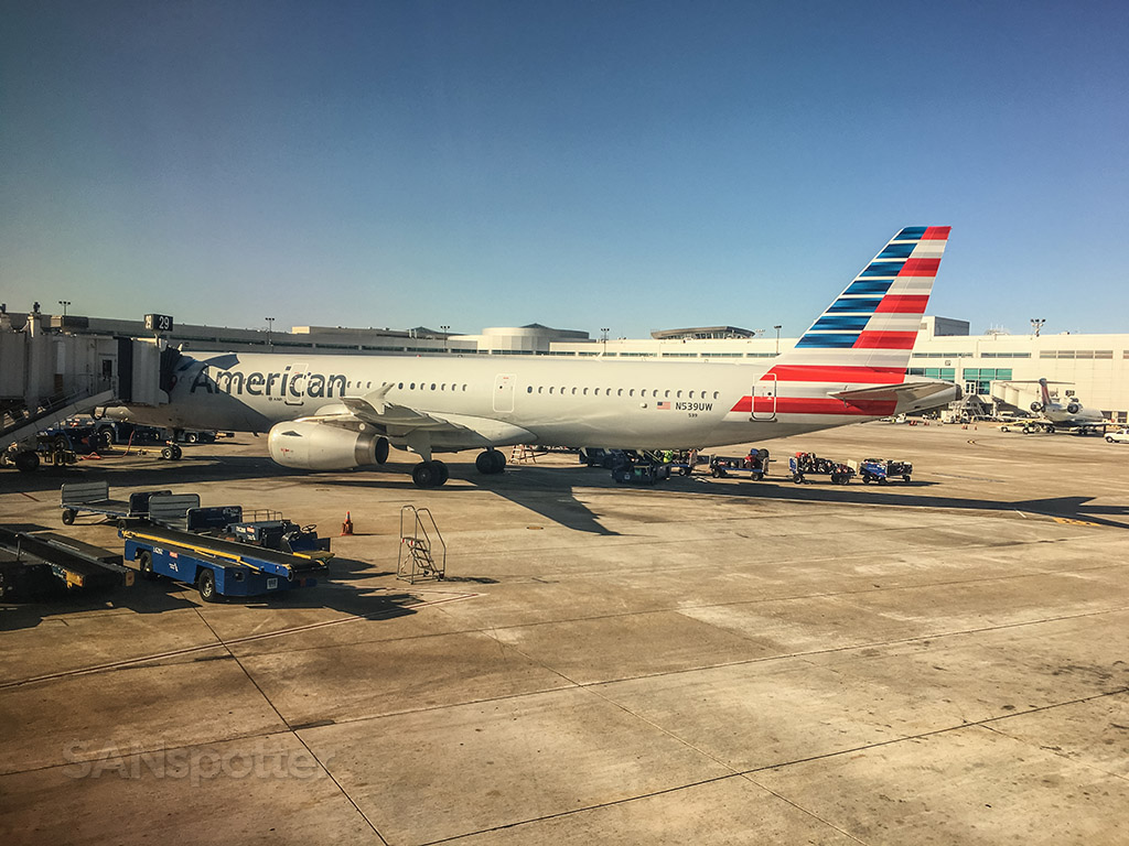 American Airlines a321 San Diego