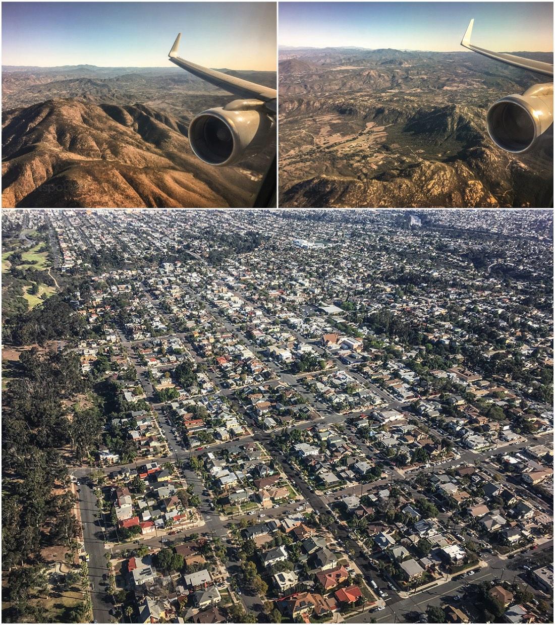 Flying into San Diego