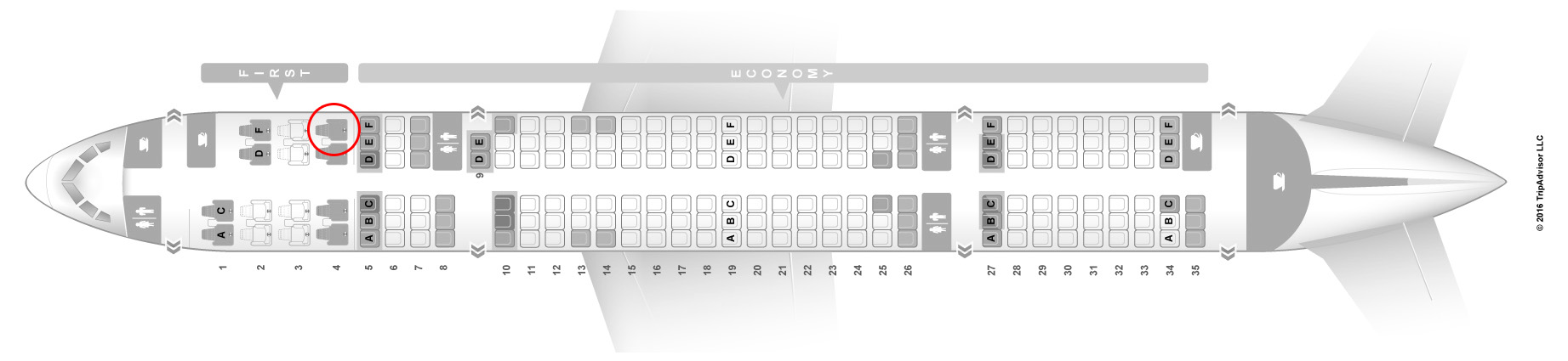 American Airlines 757 seat map