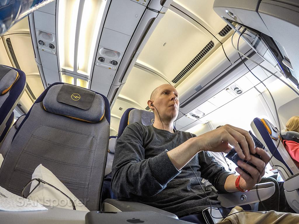 SANspotter selfie Lufthansa