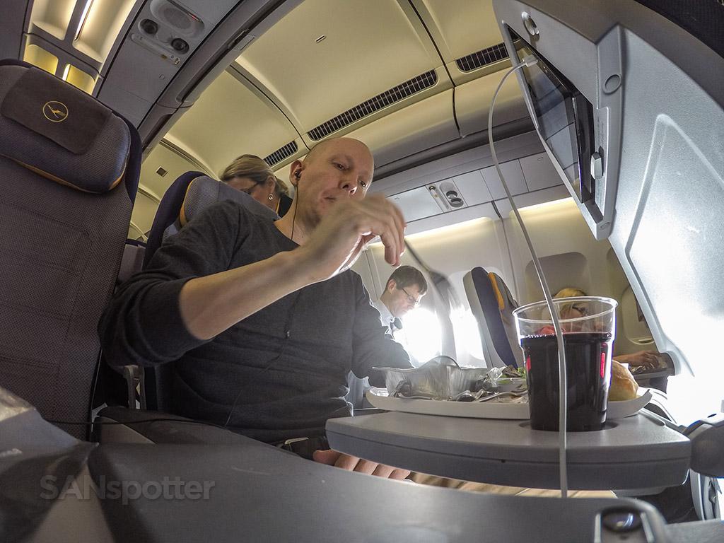 Lufthansa Economy class meal service