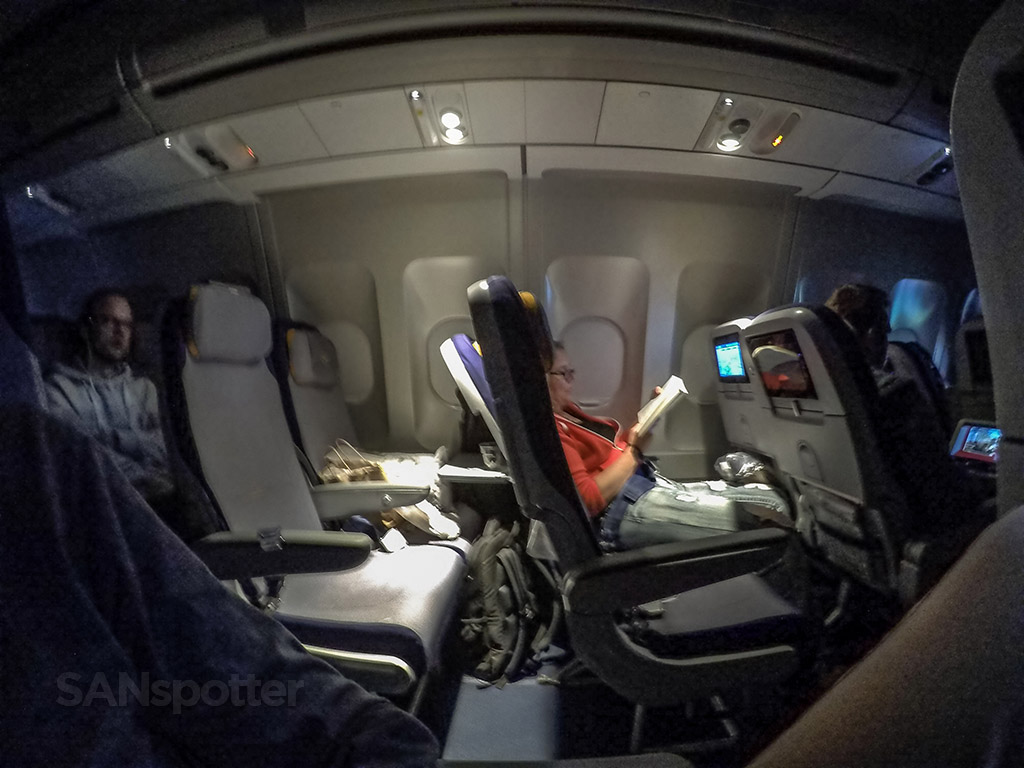 Overnight flight On Lufthansa
