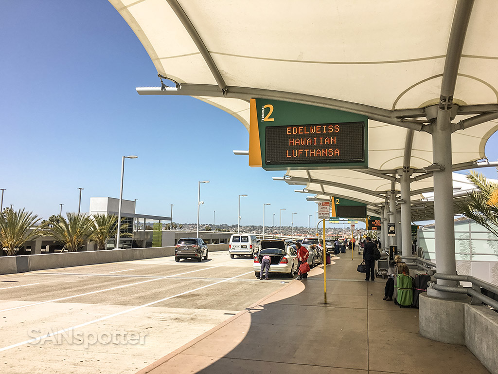 San Diego international airport terminal to departures drop off