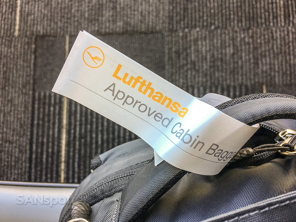 Lufthansa approved carry-on bag