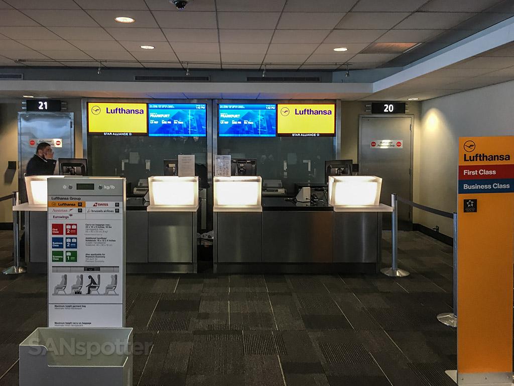 Lufthansa departure gate San Diego