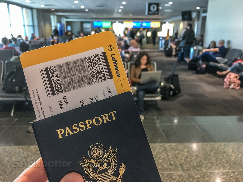Lufthansa boarding pass San Diego