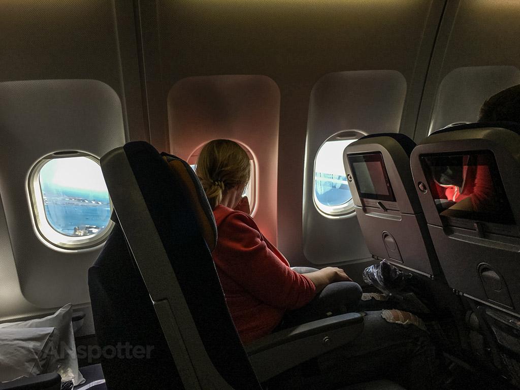 Lufthansa departing San Diego