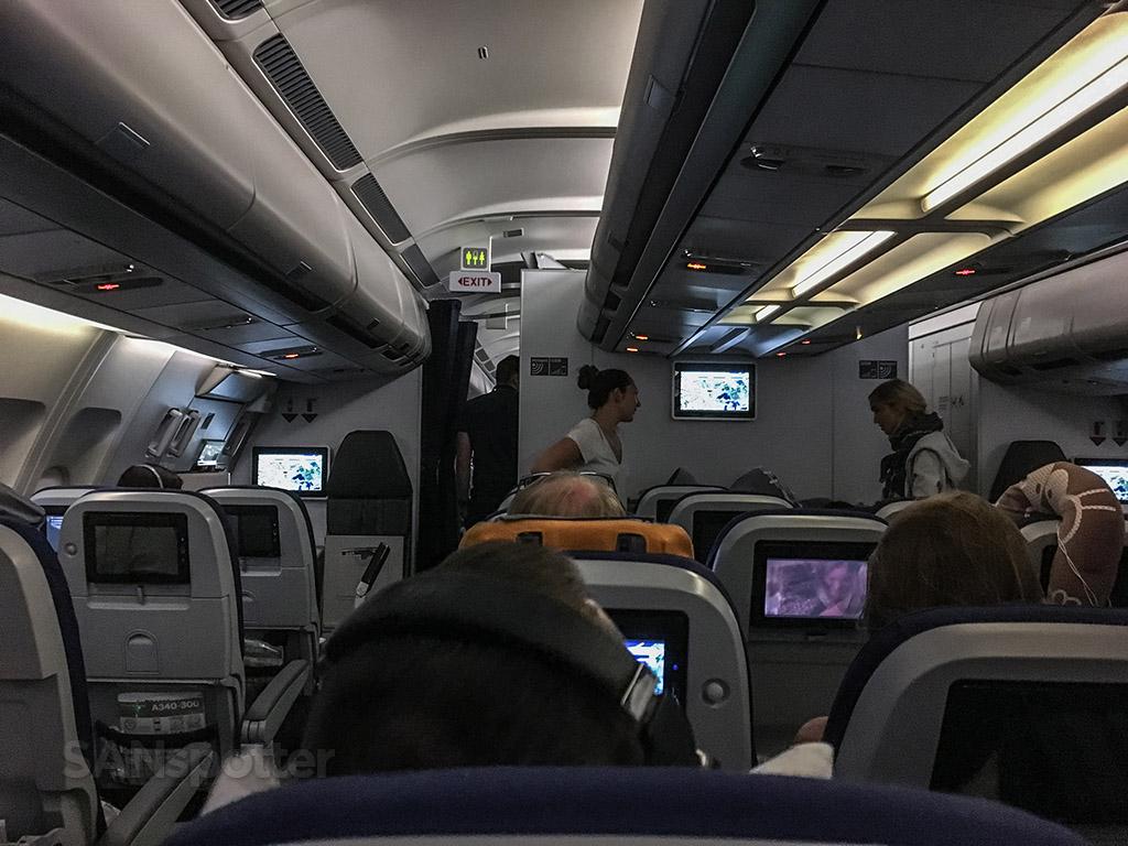 Lufthansa cabin interior